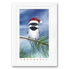 Holiday Chickadee Card