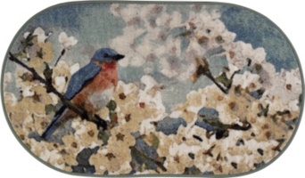 Bluebird Oval Rug