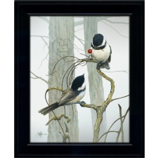 Chickadee Personalized Art Print