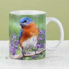 Bluebird and Purple Wildflowers Mug