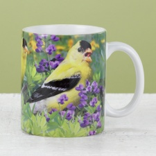 Goldfinch and Purple Wildflowers Mug