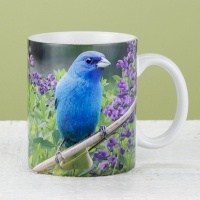Indigo Bunting and Purple Wildflowers Mug