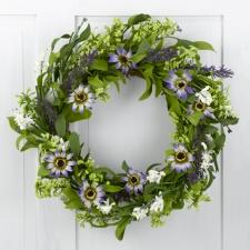 Lavender Daisy Wreath