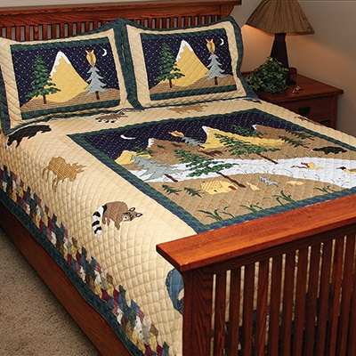 Mountain Scenic Quilt Bedding Set Shop Nwf