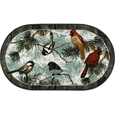 Songbirds Oval Rug