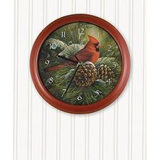 Cardinal Song Clock