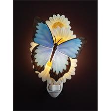 Blue Butterfly Night Light