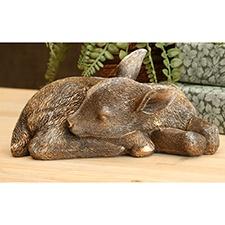 Sleepy Fawn Statue
