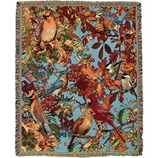 Fall Songbirds Tapestry Throw