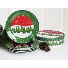 Winter Forest Plate Set