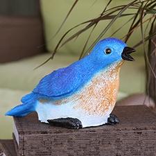 Bluebird Chirping Garden Statue