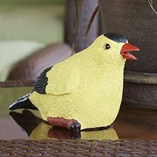 Goldfinch Chirping Garden Statue
