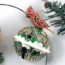 Cardinal Bell Cloisonne Ornament