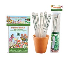 Eastern Breeze Butterfly Garden Seed Collection with Garden Stakes