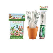 Western Glide Butterfly Garden Seed Collection with Garden Stakes