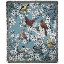 Songbirds Tapestry Throw