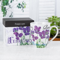 Birthday Flower Mug - Feb