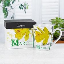 Birthday Flower Mug - March