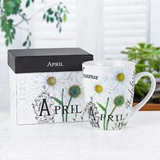 Birthday Flower Mug - April