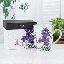 Birthday Flower Mug - July