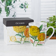 Birthday Flower Mug - October