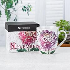 Birthday Flower Mug - November