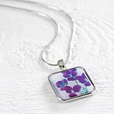 Birthday Flower Necklace - February