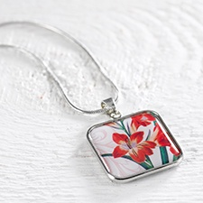 Birthday Flower Necklace - August