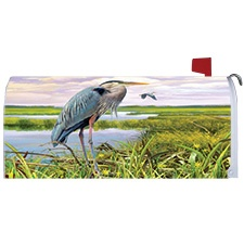 Blue Heron Mailbox Cover
