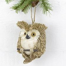 Tan Owl Hanging Décor