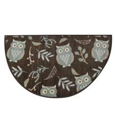 Botanical Owl Slice Rug