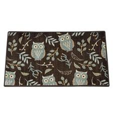 Botanical Owl Rectangle Rug