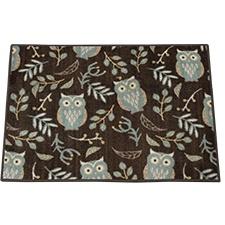 Botanical Owl Large Rectangle Rug