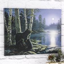 Bear Family LED-Lighted Canvas