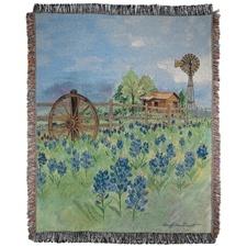 Bluebonnet Beauty Tapestry Throw