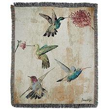 Hummingbird Sensation Tapestry Throw