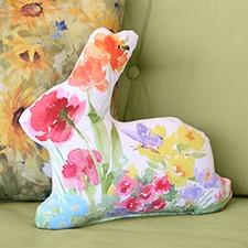 Floral Bunny Shape Pillow