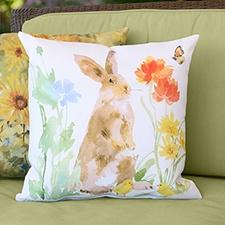 Watercolor Garden Pillow
