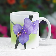 Spiderwort and Honeybee Mug