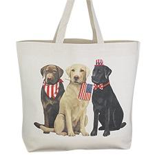 Patriotic Pups Tote Bag