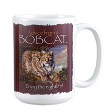 Advice from a Bobcat Mug