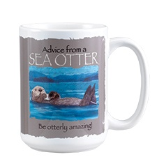 Advice from a Sea Otter Mug