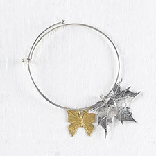 Butterfly and Maple Bangle
