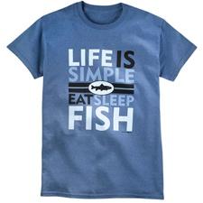 Life is Simple - Fish Tee