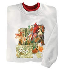Fall Cardinal Collage Pullover