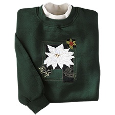 Vintage Poinsettia Pullover