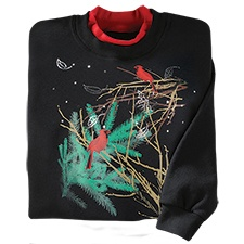 Frosty Branches Pullover