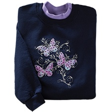 Butterfly Scroll Pullover