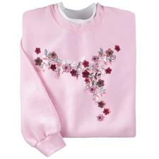 Foil Floral Vine Pullover