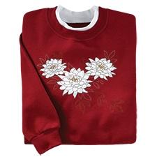 Elegant Floral Pullover
